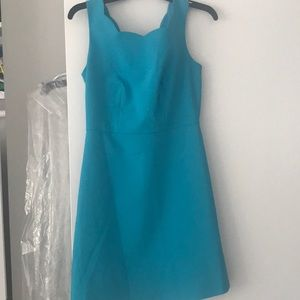 Limited scalloped teal dress